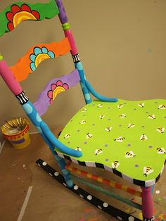 Love the spring look of this chair from The Dreaming Bear