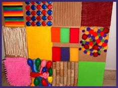 Preparing the Panel for Touch Sensitivity - Baby Sensory Classes, Baby Sensory Play, Sensory Wall, Sensory Boxes, Sensory Activities, Infant Activities, Activities For Kids, Diy Sensory Board, Baby Development