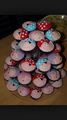 Pirate face cupcakes