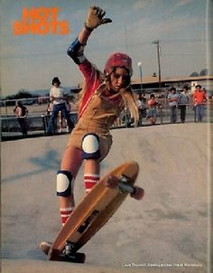 14 Rad Photos of Female Skateboarders in the 1970s - Laura Thornhill 1974