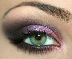 Maquillage rose noir