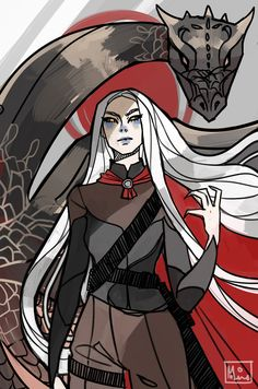 Manon Blackbeak by monolime. Heir of Fire. Queen of Shadows. Empire of Storms. Sarah J Maas