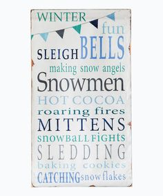 Love this Celebrate Winter Gallery-Wrapped Canvas on #zulily! #zulilyfinds