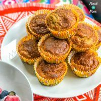 Low Syn Banana and Peanut Muffins | Slimming World - Pinch Of Nom