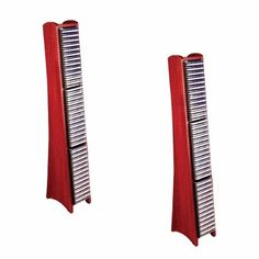 2 75 CD Rack Cherry (Red) Fin Solid Hard Wood Modern Media Storage