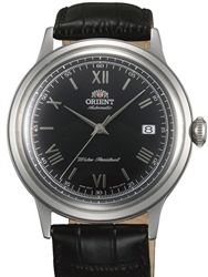 Orient Bambino 2nd-Gen Automatic Dress Watch with Black Dial, Silver Color Hands #AC0000AB