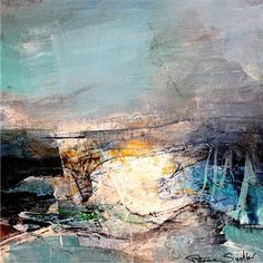 Patricia Sadler - Sunshine on Waves Abstract Art Images, Abstract Landscape Painting, Seascape Paintings, Landscape Art, Landscape Paintings, Great Paintings, Contemporary Landscape, Amazing Art, Artwork