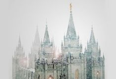 I am not sure where this incredible castle or cathedral is located but it is amazing in this photo.
