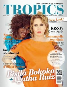 At the Cover of Tropic Magazine October- November issue African Goddess, Editorial Fashion, Digital Prints, Tropical, Fashion Editorials, Magazine Covers, November, French, Sewing