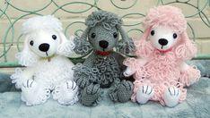 Pandora the Poodle amigurumi crochet pattern by mojimojidesign