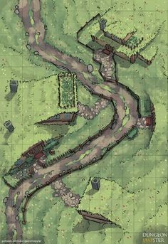 dnd village map halfling fantasy rpg dungeon hamlet battlemap maps mapa reddit battlemaps mapster road hills tabletop farmland gridless pathfinder
