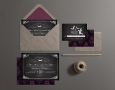 Printable Wedding Invitation Halloween Wedding by plpapers