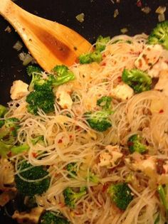 Crazy Chicken - Rice Noodle Stir-Fry---this sounds really good too, but again, not all the ingredients on hand.