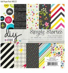 New DIY Design It Yourself products from Simple Stories. New for CHA-W 2014.