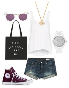 """""""Swag"""" by dasafin on Polyvore featuring rag & bone, MICHAEL Michael Kors, Smoke & Mirrors, Lulu Frost and Converse"""