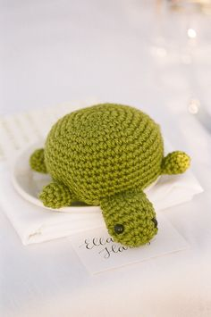 SO cute! Crocheted critters as wedding favors ;) Photography by janamorgan.com