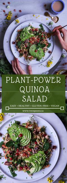 PLANT-POWER QUINOA SALAD | Easy, Healthy, Gluten-Free, + Vegan | TWO SPOONS