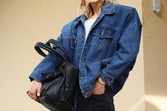 #balenciaga #denim #jacket #blogger