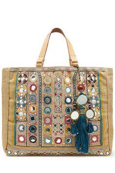 Star Mela  Embellished Jute Bag with Tassels