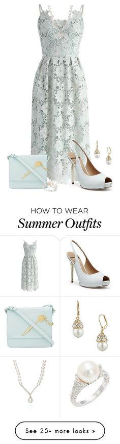 """Summer Weddings"" by freida-adams on Polyvore featuring Chicwish, GUESS by Marciano, Sophie Hulme, Belk & Co., Anne Klein and Belpearl"