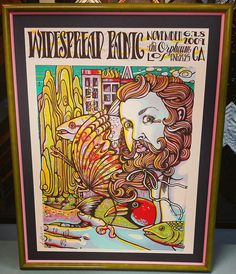 @wptouring print framed with @larsonjuhl's Taffy and Confetti liner. Come see us for creative poster framing! Custom framed by FastFrame of LoDo. #art #pictureframing #customframing #denver #colorado #widespreadpanic