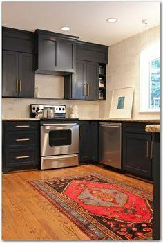 black cabinet kitchen