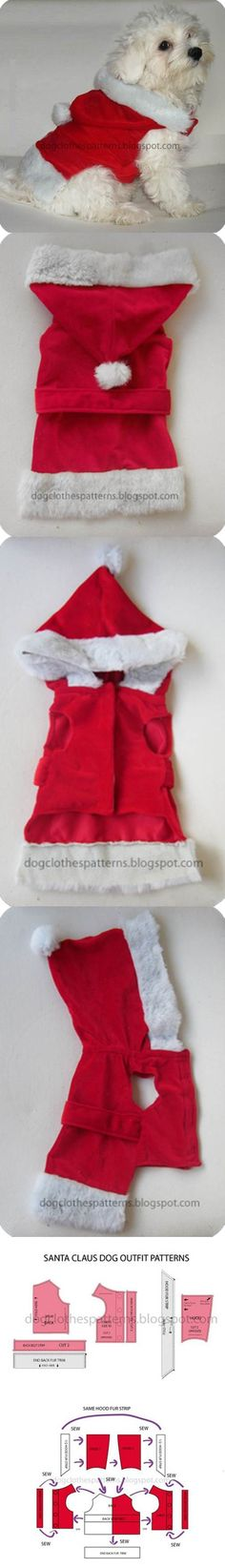 Outfit DIY Papai Noel Dog 2