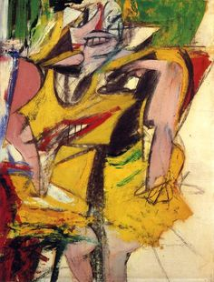 Willem de Kooning, Woman 1953 on ArtStack #willem-de-kooning #art