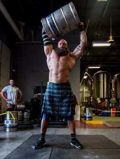 Brewing Company and Power Plant Gym presents Strongman Competition, Beer Muscles Ace Fitness, Muscle Fitness, Muscle Men, Superman, World's Strongest Man, Men In Kilts, Big Guys, Powerlifting, Weightlifting
