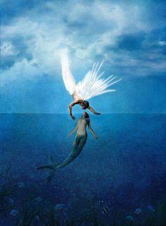 Mermaid & Angel