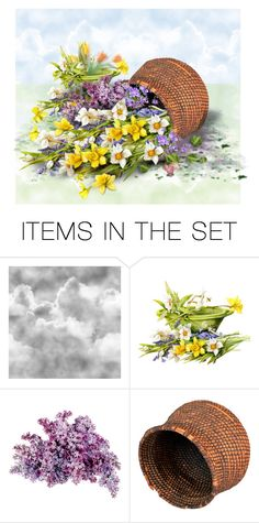 """The Flowers in the Basket 2"" by bb60477 ❤ liked on Polyvore featuring art"
