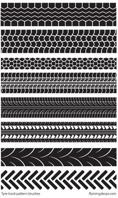 """""""FREE STUFF - Illustrator tyre track brushes"""" by FlamingDerps   Redbubble"""
