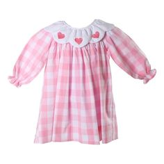 a34650fed9f2 Pink Check Embroidered Hearts Valentine Dress. Cecil And LouCaroline Kelly Girl FashionValentinesSmocked ...