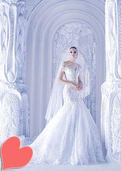 Dresses, Bridal Spring 2013 Off Shoulder Wedding Dress By Michael Cinco: Stunning Wedding Dresses From Michael Cinco Spring/Summer 2013 bridal collection