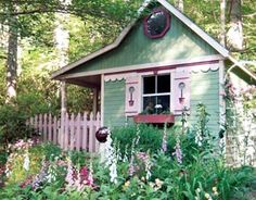 """""""My"""" little cottage on the farm! Actually, I think this is so freakin' cute but I would love to be in the middle of a huge house with the whole family. Maybe the cottage could be a meditation space."""