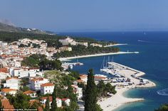 Along the Dalmatian Coast, Baska Voda is one of the most-loved summer resort towns along the Adriatic Sea's Makarska Rivieria