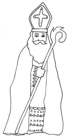 coloriage saint nicolas Coloring Sheets, Coloring Pages, St Nicholas Day, Religion, Advent, Saints, Animation, Holidays, Education