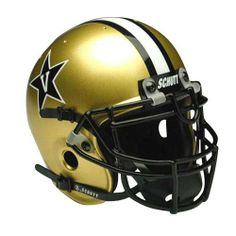 Schutt Vanderbilt Commodores Mini Helmet by Schutt. $24.99. Real wire faceguard. Approximately 1/2 scale of actual size. Complete interior pad set. Finely crafted miniature of actual game helmet. Officially Licensed Product. This authentic mini helmet by Schutt is a smaller version of the on field helmet. This line is the same quality and style of helmet that your favorite team wears on Saturday. Great for autographs or display in any home or office space. Makes the p...