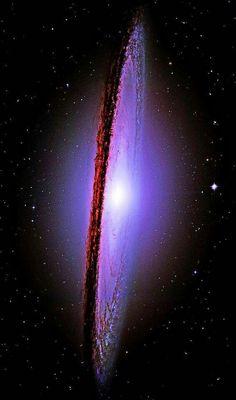 """""""The Majestic Messier-104 (M-104) Sombrero Galaxy"""" Distance to Earth: 29.35 million light years. Apparent mass: ~1 billion M☉ Constellation: Virgo Photo By: NASA Hubble Space Telescope"""