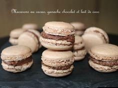 Macarons cacao et ganache au lait de coco et chocolat
