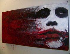 superbestiario: A Wrench in the Gears (The Joker/Heath Ledger/Batman) by Jim Hance Joker Heath, Joker Kunst, Joker Painting, Creation Art, Joker Art, Joker Batman, Gotham Batman, Batman Art, Marvel