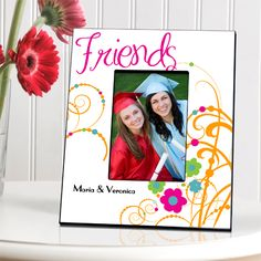 Uniquely Custom - Cheerful BFF Picture Frame, $30.00   #giftsforkids #personalizedgifts #kidgiftideas #Uniquegifts Unique Gifts For Kids, Best Gifts For Men, Gifts For Teens, Kids Gifts, Friendship Pictures, Bff Pictures, Friendship Group, Personalized Picture Frames, Personalized Gifts For Kids