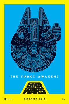 Star Wars - Millennium Falcon Posters Created by Nick Holmes