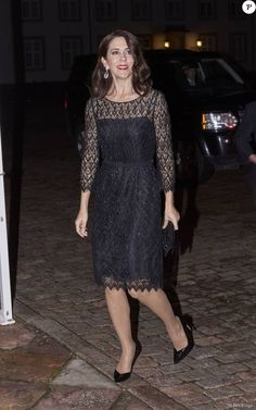 Crown Princess Mary in Prada with Carlend Copenhagen bag and Gianvito Rossi pumps - Fredensborg Concert, Fredensborg Palace Church, November 2015