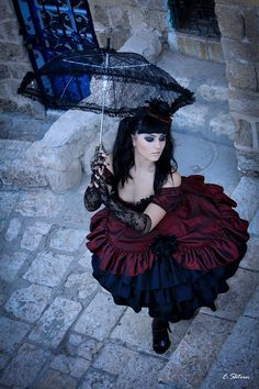 Gothic Lolita Prom Party Dress Punk Black by MineleeArtStudio Gothic Mode, Dark Gothic, Gothic Lolita, Gothic Art, Style Steampunk, Gothic Steampunk, Steampunk Fashion, Victorian Gothic, Steampunk Female