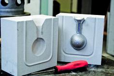3D printed concrete: 2piece - aluminum mold.