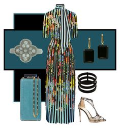 """Untitled #124"" by amy-hille ❤ liked on Polyvore featuring Mary Katrantzou, Jimmy Choo, Repossi, Joan Hornig, Van Cleef & Arpels and Lanvin"