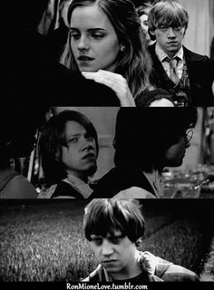 """Ron DOES NOT like seeing Hermione with anyone else!! """"Hermione is RON'S"""" -Daniel Radcliffe ^remember that bitches :]"""