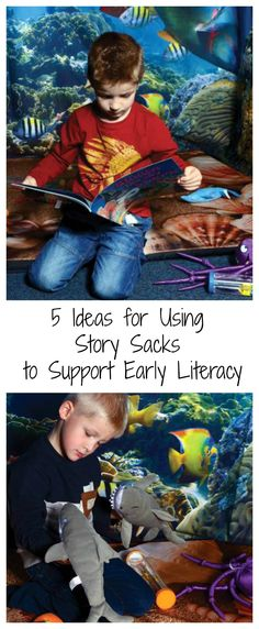 5 Ideas for Using Story Sacks to Support Early Literacy #LearningIsFun