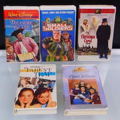 VHS Tapes 5 Timeless Classics Movies Walt Disney MGM Universal Fox Old Masterpieces Family Time Movies Walt Disney Treasures, Small Soldiers, Ebenezer Scrooge, Fox Home, Parent Trap, Fairy Tales For Kids, I Love This Yarn, Walt Disney Pictures, Vhs Tapes